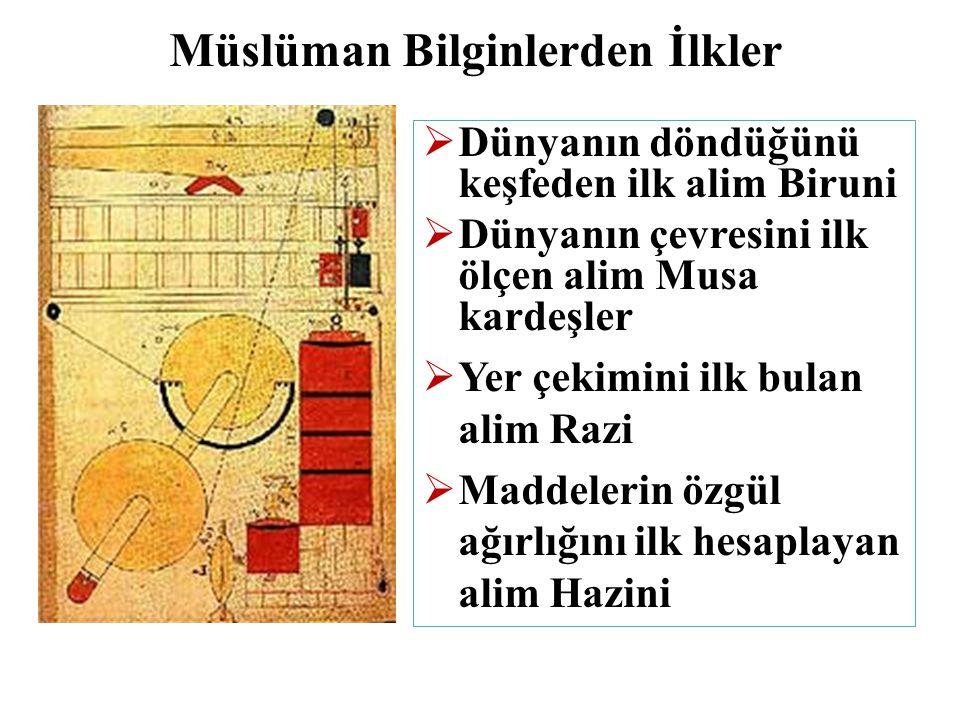 Müslüman Bilginlerden İlkler