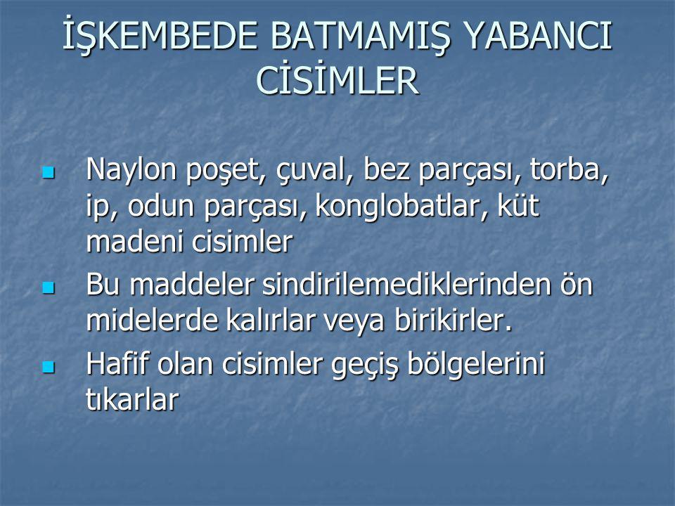 İŞKEMBEDE BATMAMIŞ YABANCI CİSİMLER