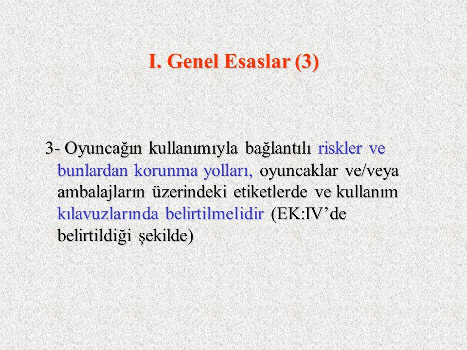 I. Genel Esaslar (3)