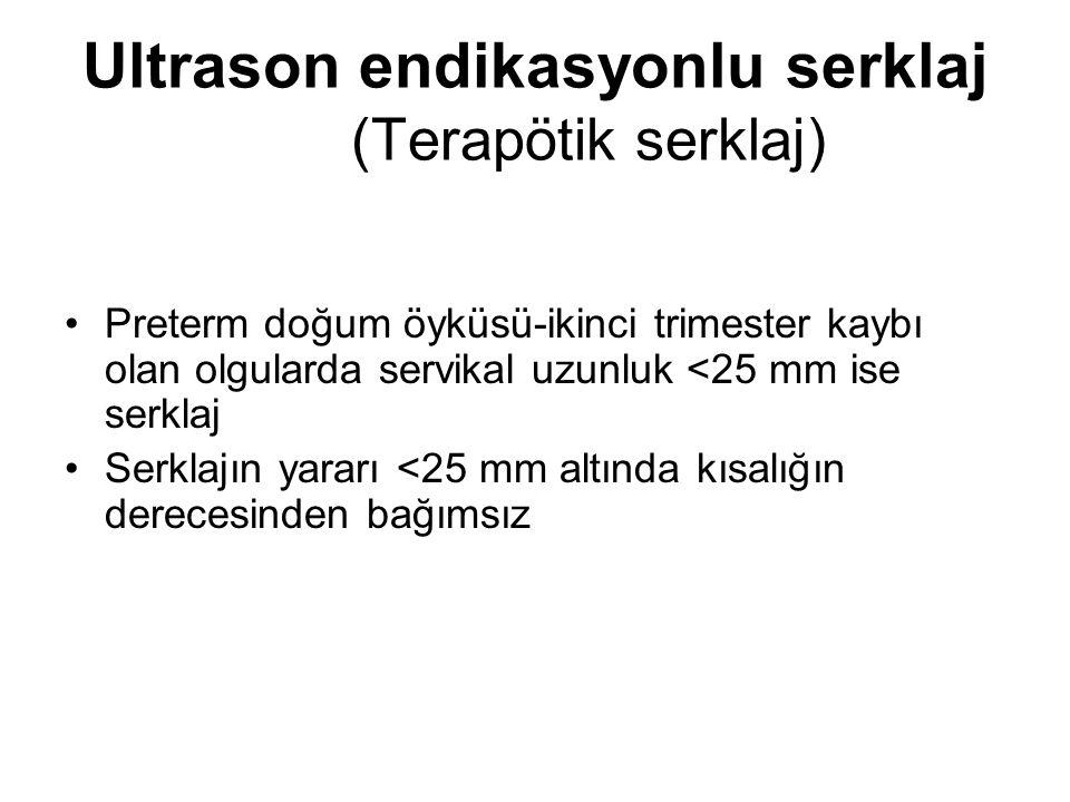 Ultrason endikasyonlu serklaj (Terapötik serklaj)