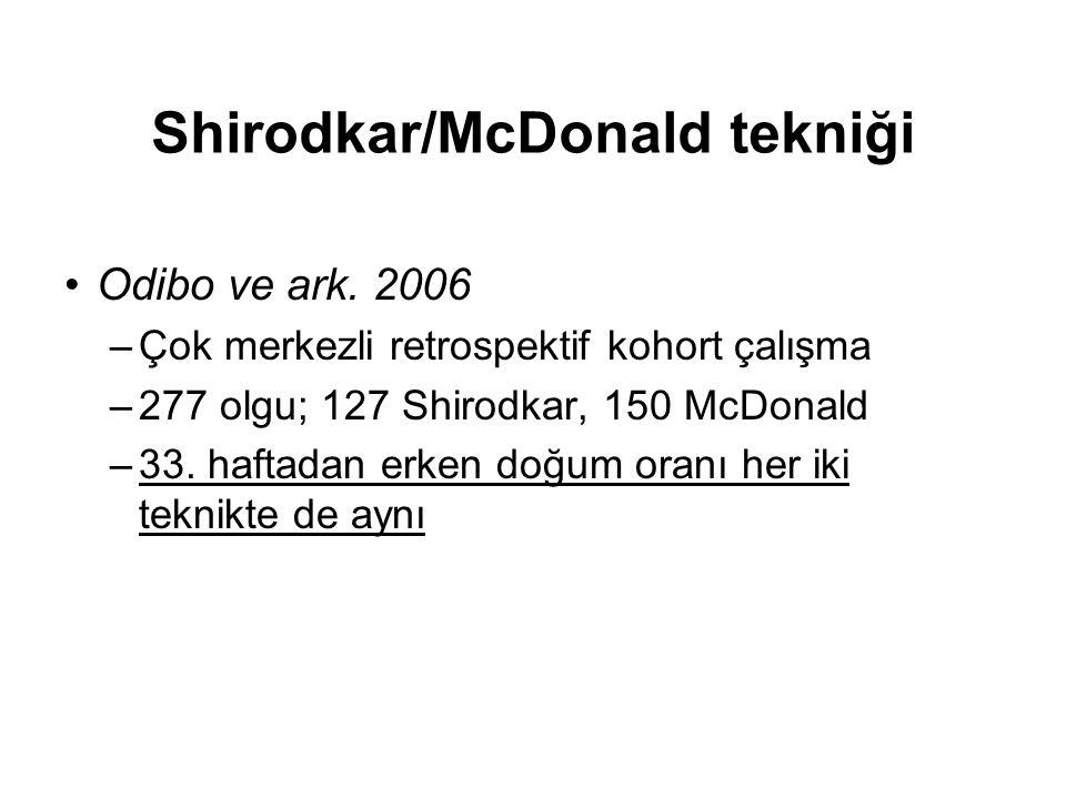 Shirodkar/McDonald tekniği
