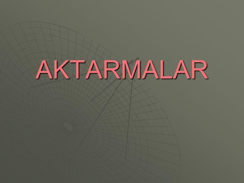 AKTARMALAR