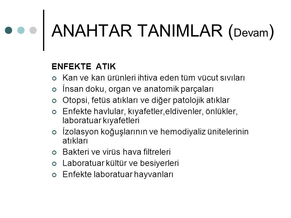 ANAHTAR TANIMLAR (Devam)