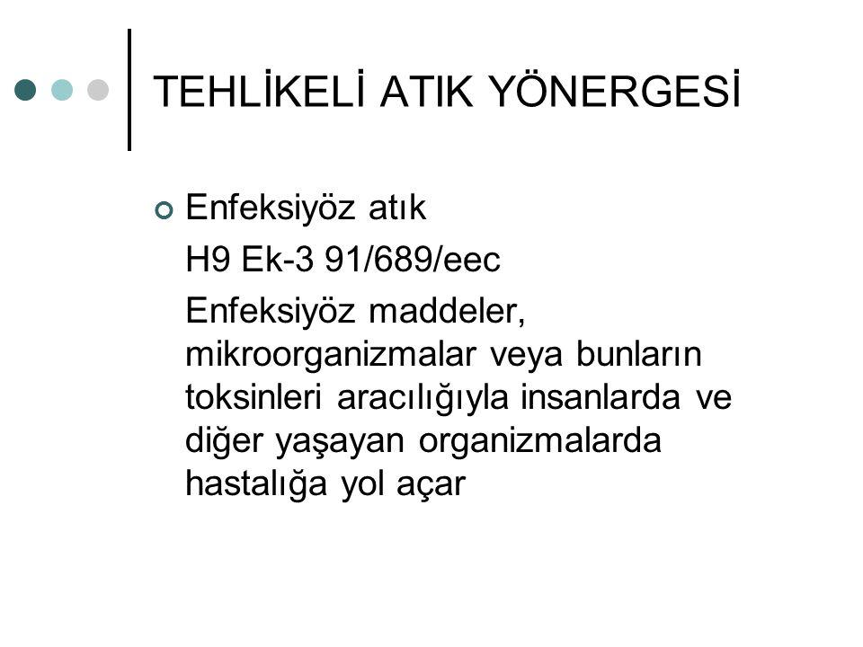 TEHLİKELİ ATIK YÖNERGESİ