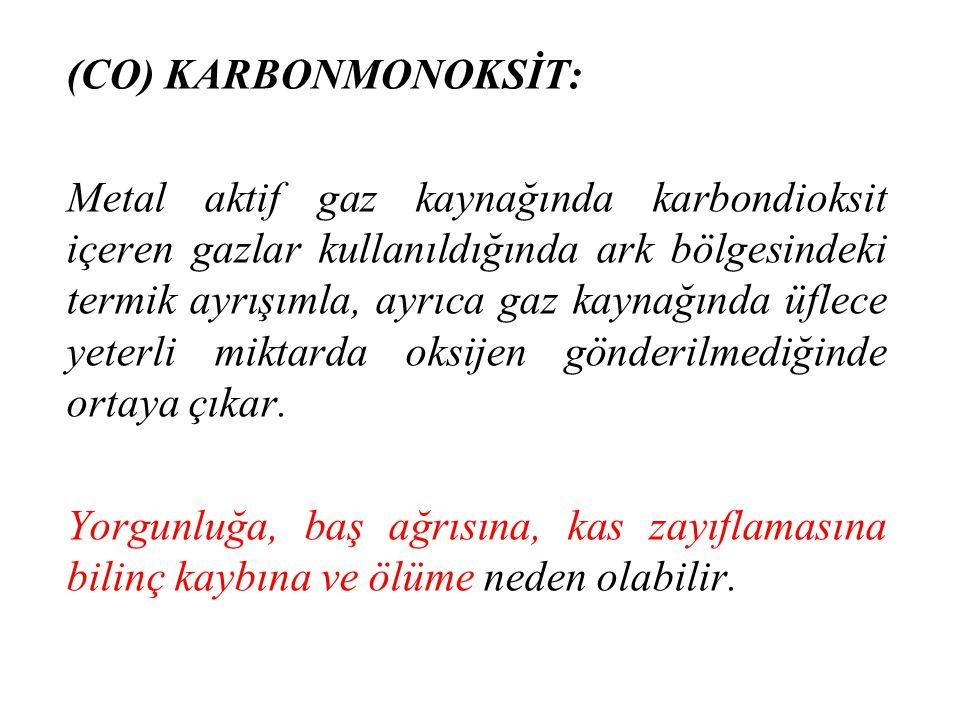 (CO) KARBONMONOKSİT:
