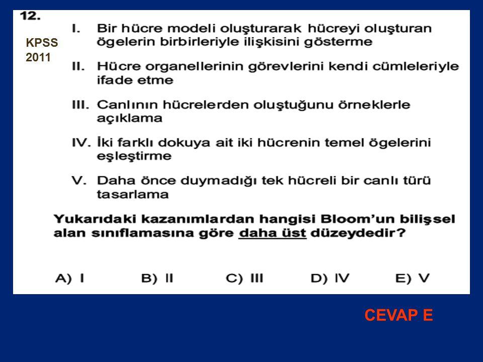 KPSS 2011 CEVAP E