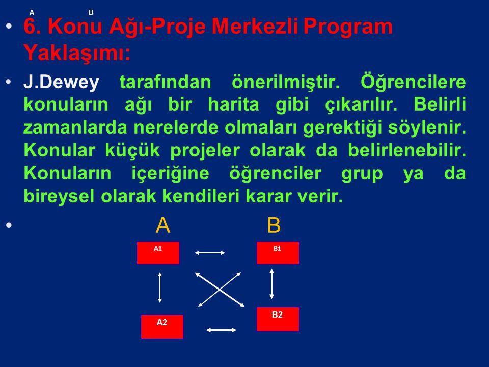 6. Konu Ağı-Proje Merkezli Program Yaklaşımı: