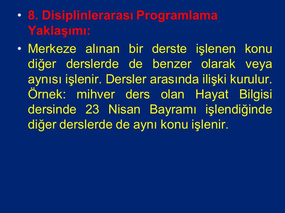 8. Disiplinlerarası Programlama Yaklaşımı: