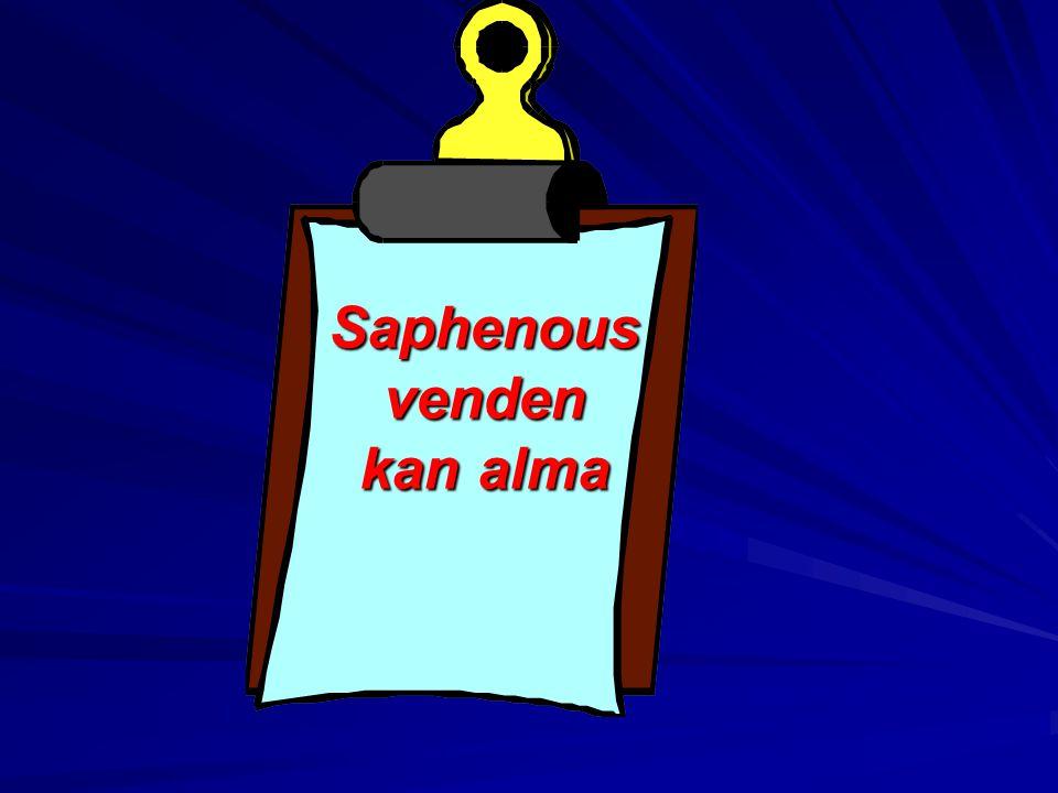 Saphenous venden kan alma