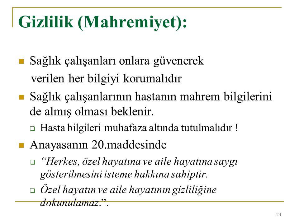 Gizlilik (Mahremiyet):