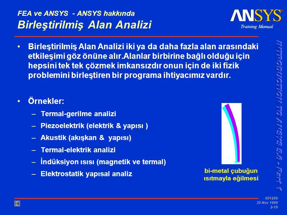 FEA ve ANSYS - ANSYS hakkında Birleştirilmiş Alan Analizi
