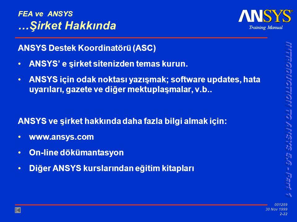 FEA ve ANSYS …Şirket Hakkında