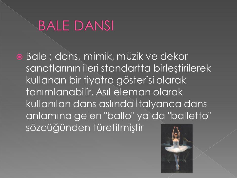 BALE DANSI