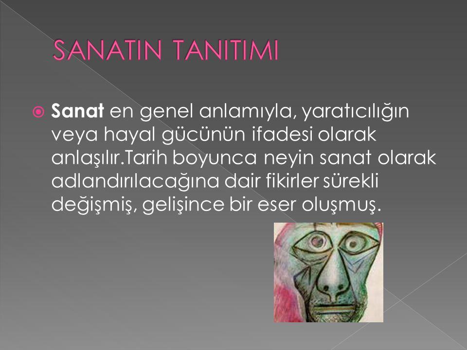 SANATIN TANITIMI