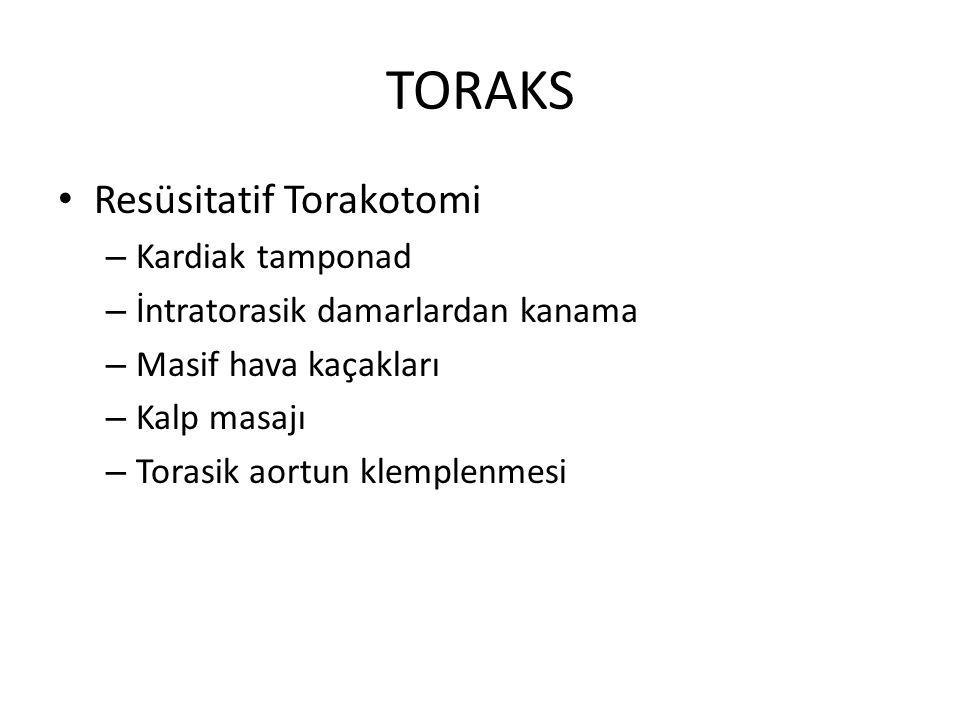 TORAKS Resüsitatif Torakotomi Kardiak tamponad