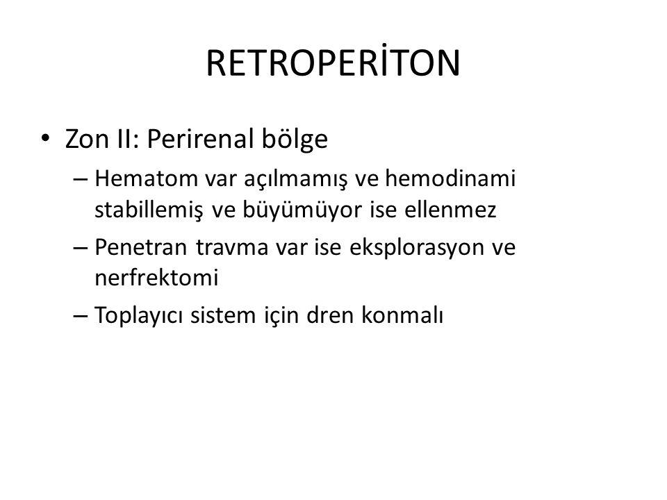 RETROPERİTON Zon II: Perirenal bölge
