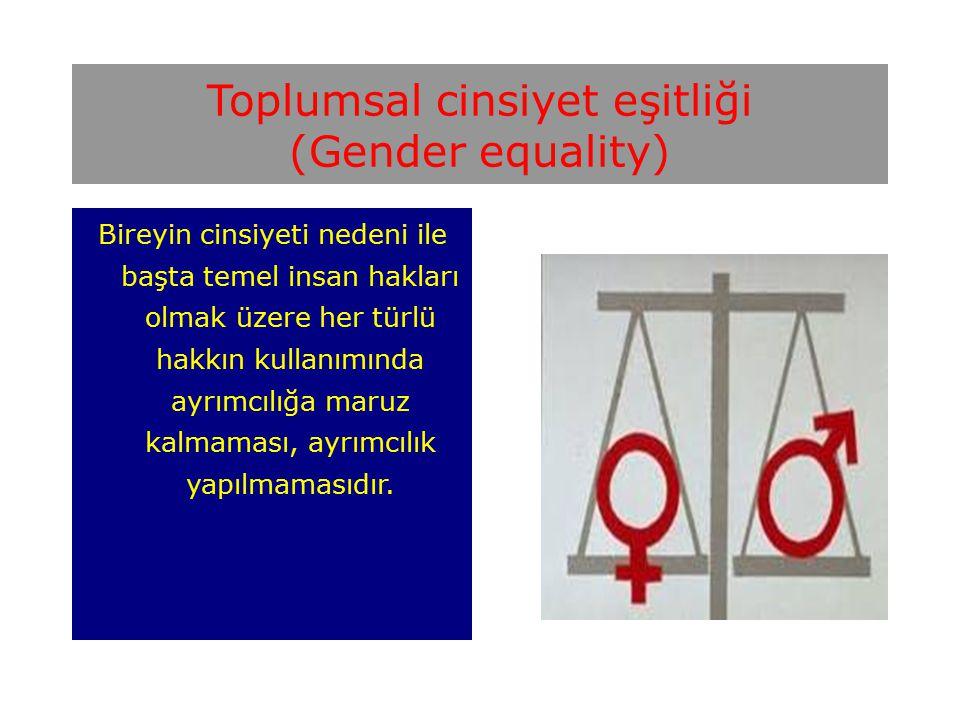 Toplumsal cinsiyet eşitliği (Gender equality)