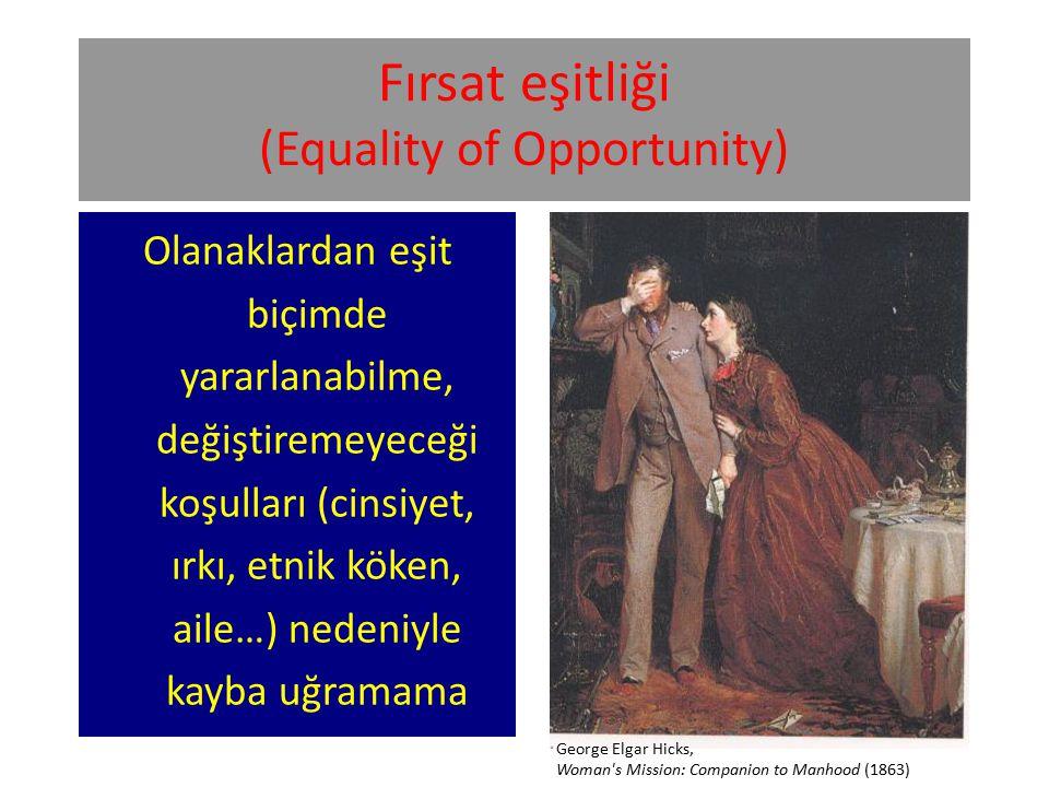 Fırsat eşitliği (Equality of Opportunity)