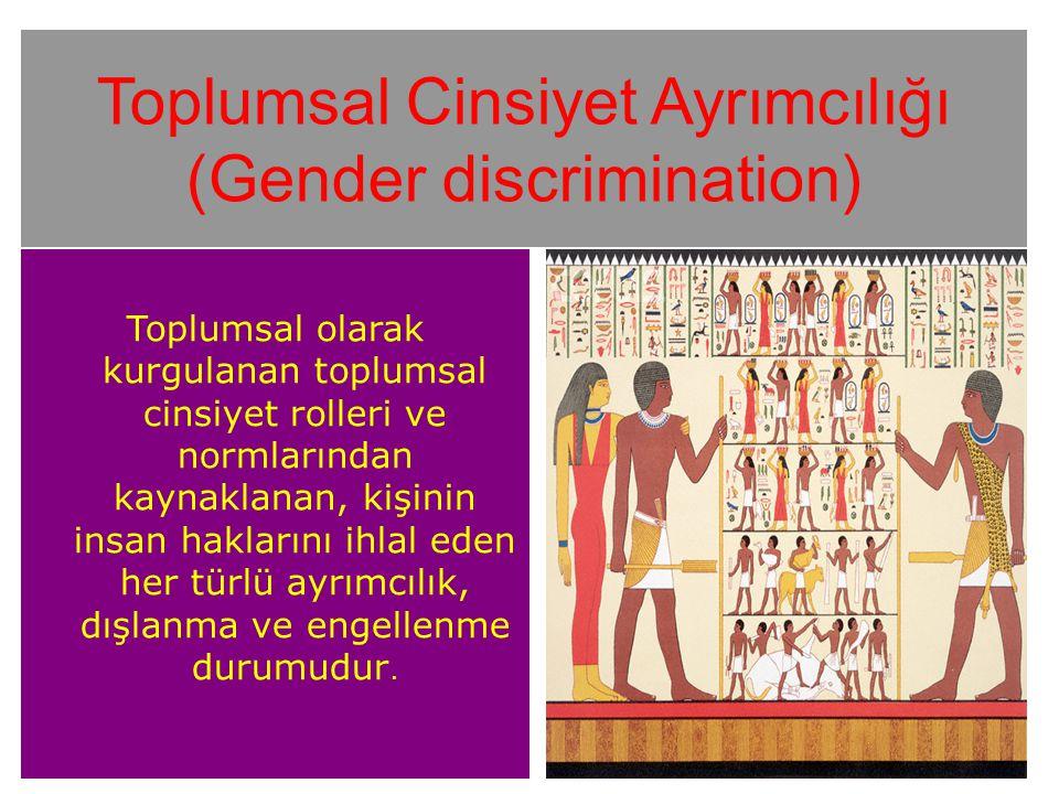 Toplumsal Cinsiyet Ayrımcılığı (Gender discrimination)