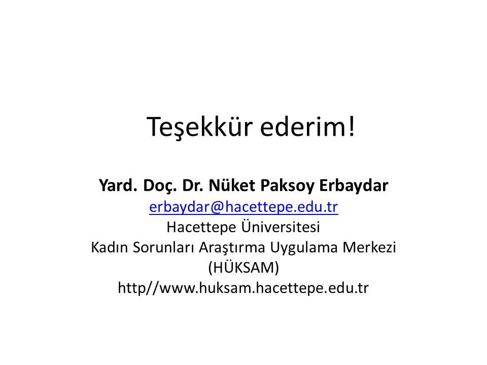 Yard. Doç. Dr. Nüket Paksoy Erbaydar