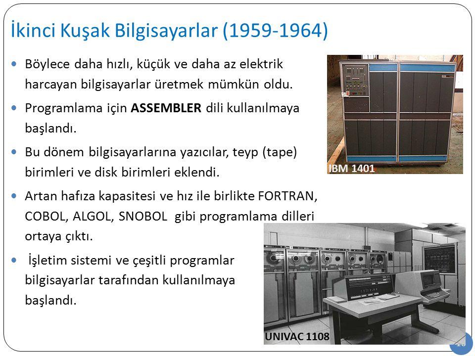 İkinci Kuşak Bilgisayarlar (1959-1964)