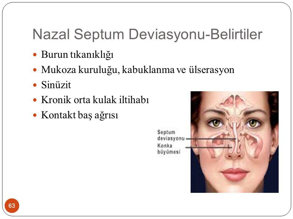 Nazal Septum Deviasyonu-Belirtiler