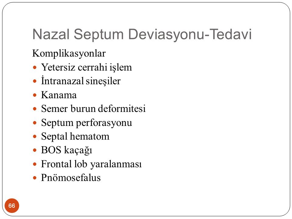 Nazal Septum Deviasyonu-Tedavi