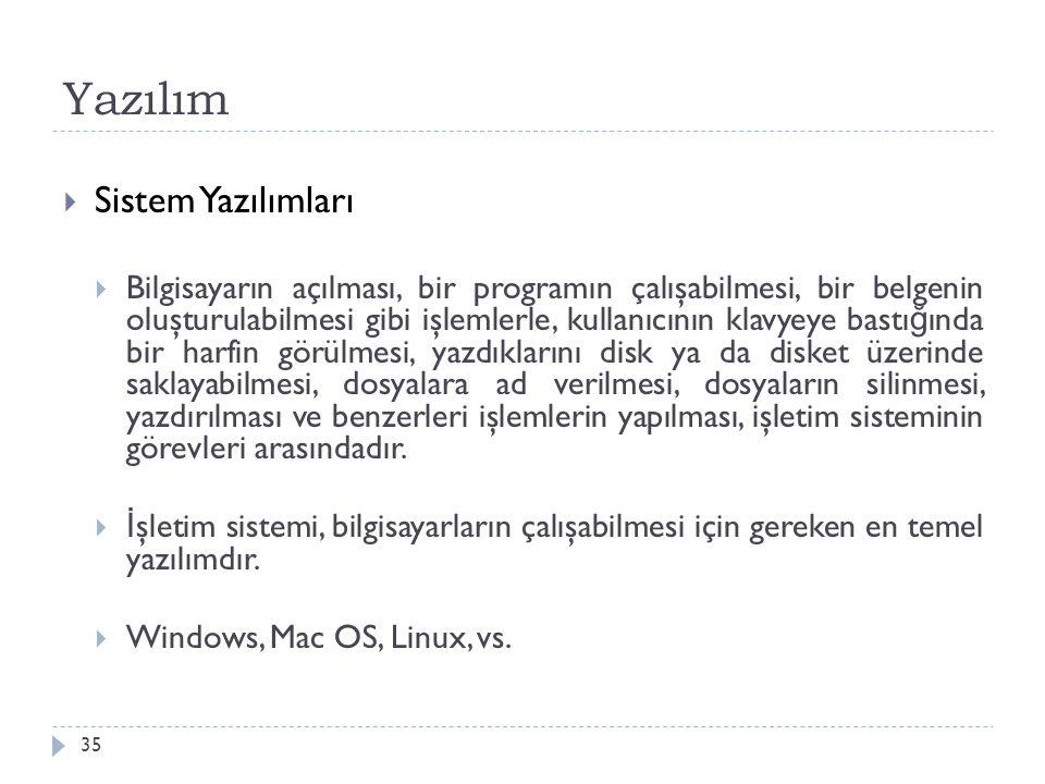 Yazılım Sistem Yazılımları