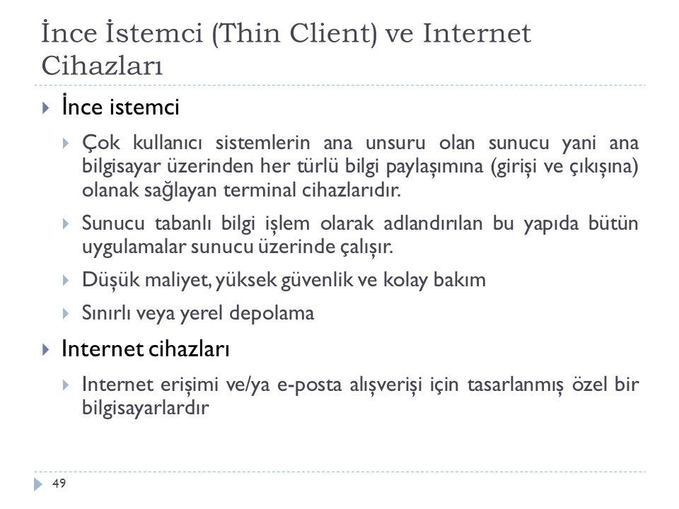 İnce İstemci (Thin Client) ve Internet Cihazları