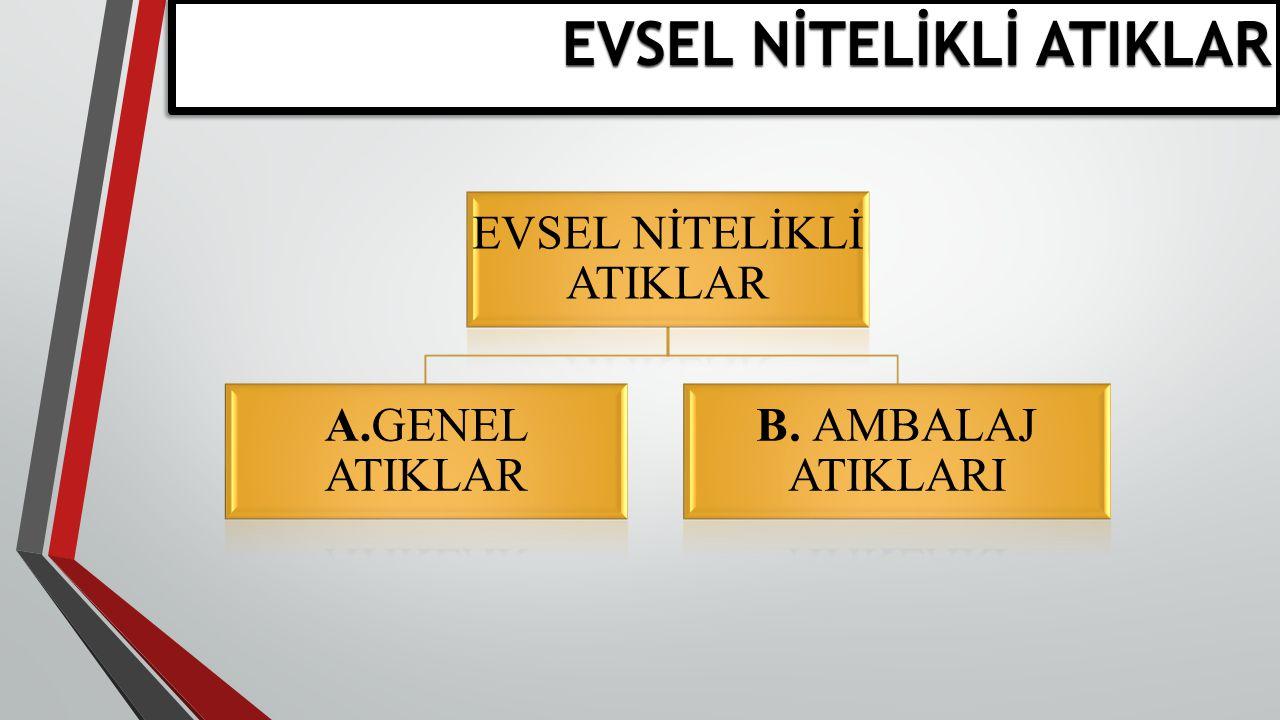 EVSEL NİTELİKLİ ATIKLAR