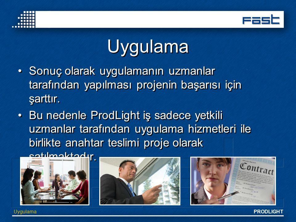 Uygulama Sonuç olarak uygulamanın uzmanlar tarafından yapılması projenin başarısı için şarttır.