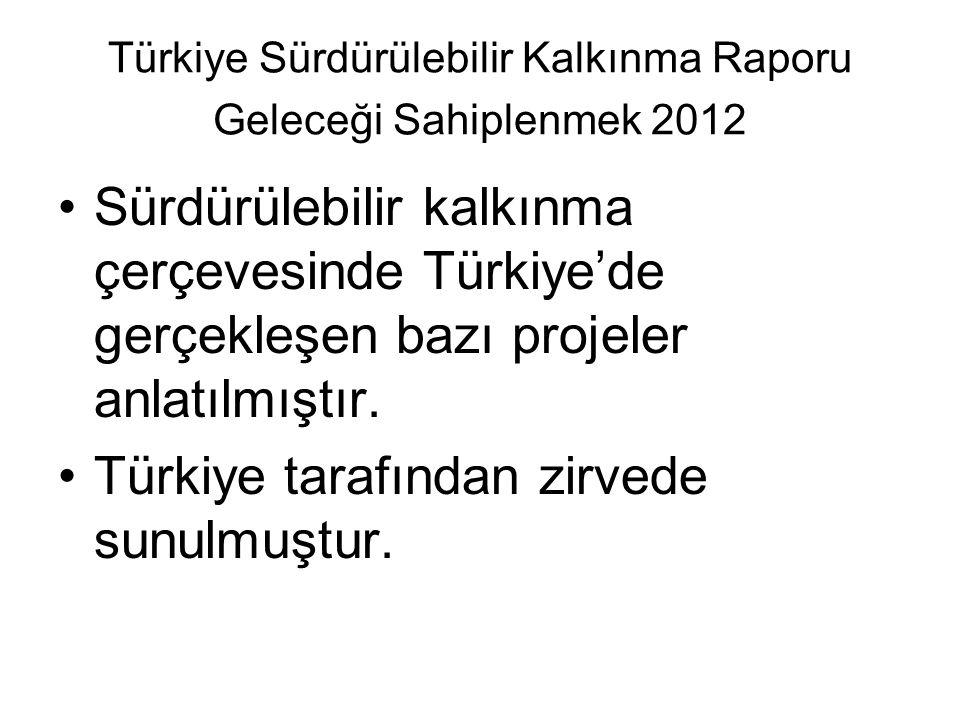 Türkiye Sürdürülebilir Kalkınma Raporu Geleceği Sahiplenmek 2012