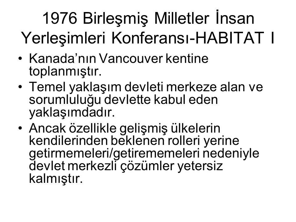 1976 Birleşmiş Milletler İnsan Yerleşimleri Konferansı-HABITAT I