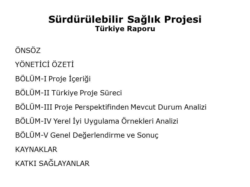 Sürdürülebilir Sağlık Projesi Türkiye Raporu