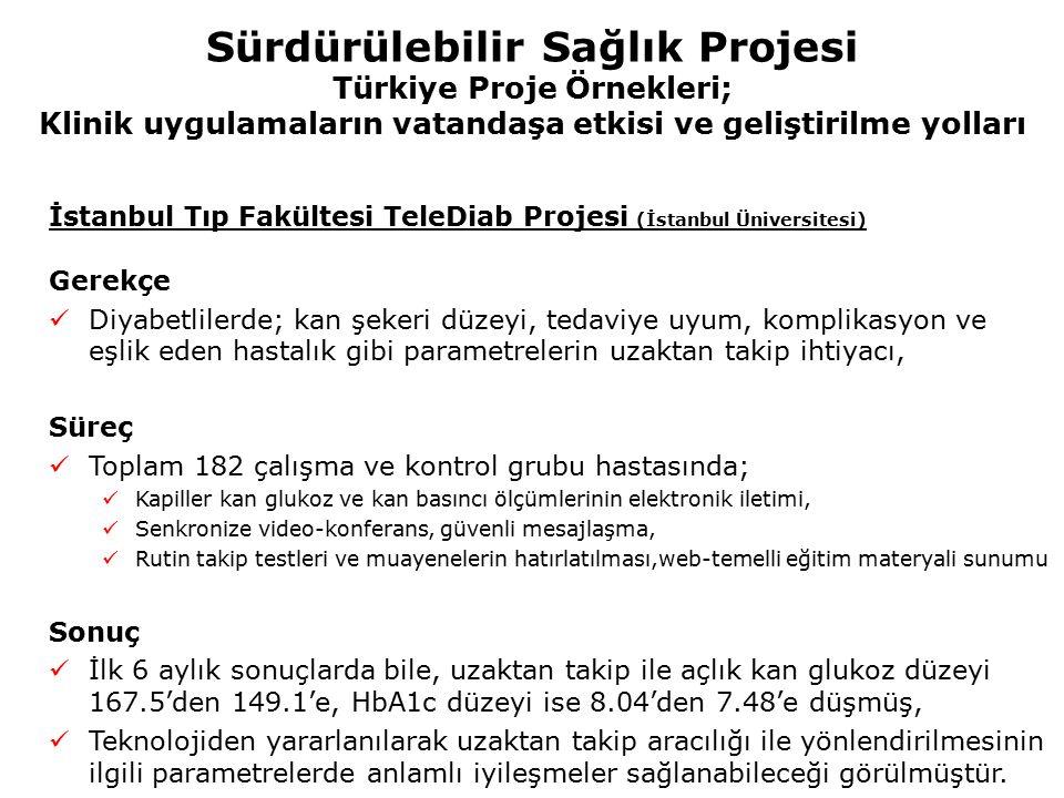 Sürdürülebilir Sağlık Projesi Türkiye Proje Örnekleri; Klinik uygulamaların vatandaşa etkisi ve geliştirilme yolları