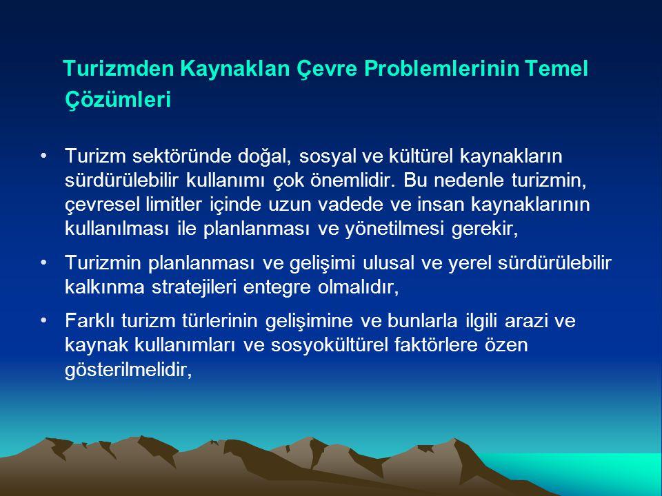 Turizmden Kaynaklan Çevre Problemlerinin Temel Çözümleri