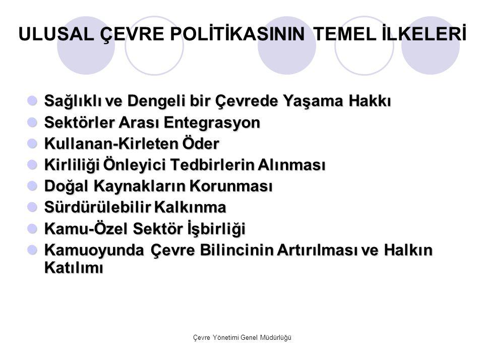 ULUSAL ÇEVRE POLİTİKASININ TEMEL İLKELERİ