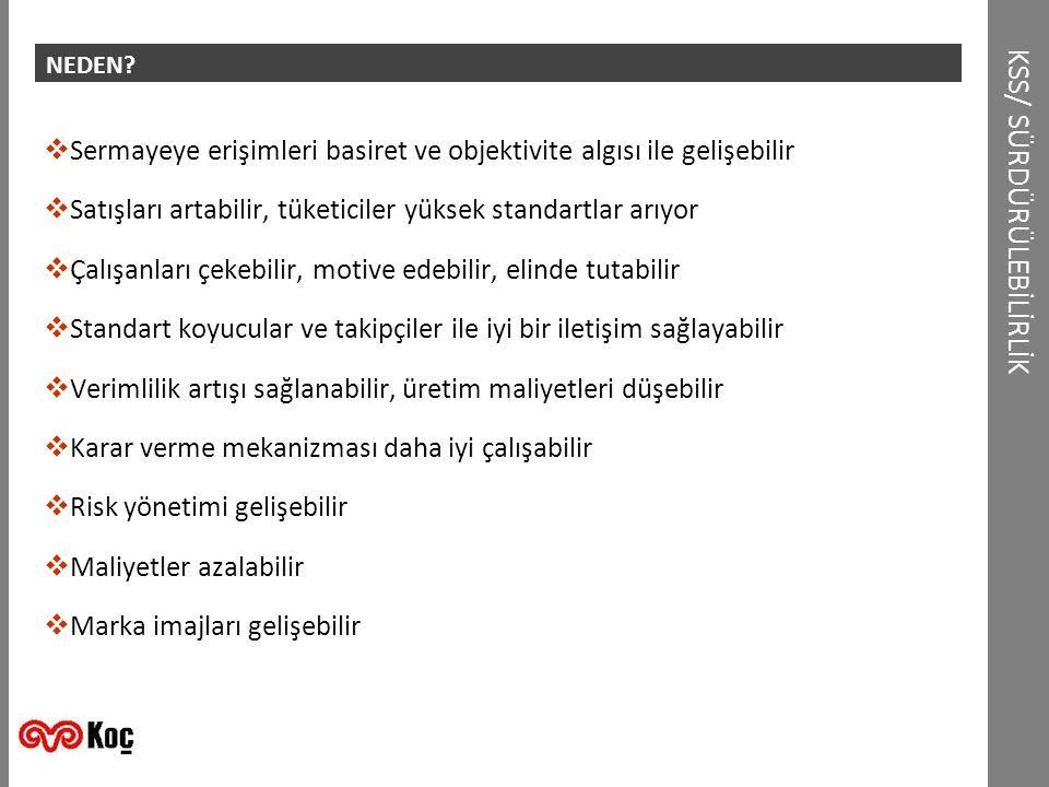 KSS/ SÜRDÜRÜLEBİLİRLİK