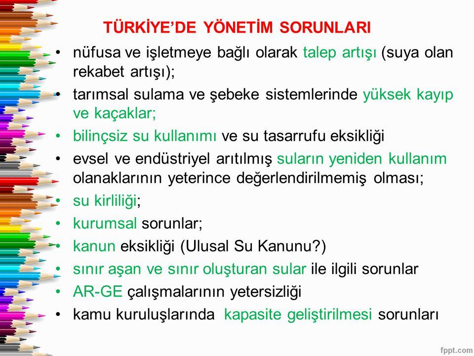 TÜRKİYE'DE YÖNETİM SORUNLARI
