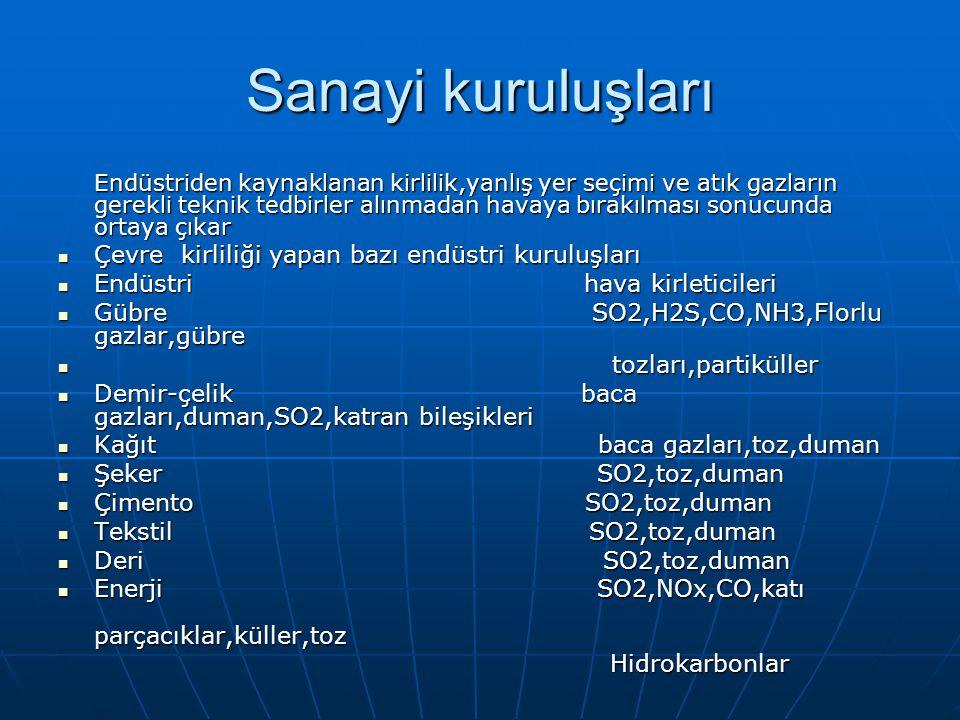 Sanayi kuruluşları