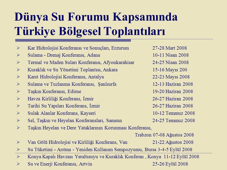 Dünya Su Forumu Kapsamında Türkiye Bölgesel Toplantıları