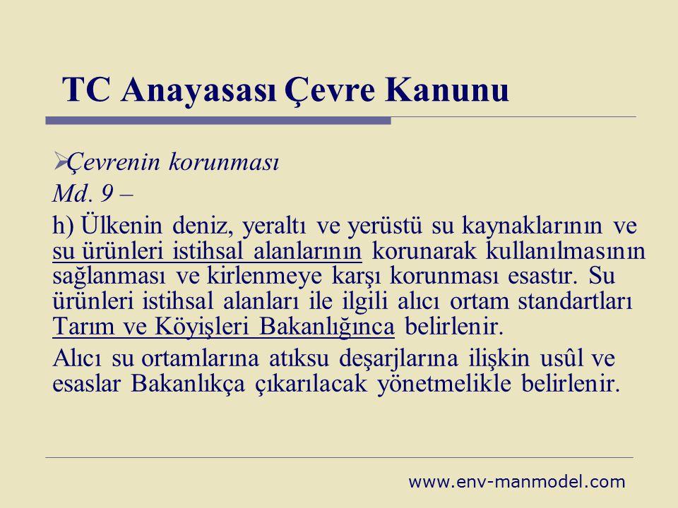 TC Anayasası Çevre Kanunu