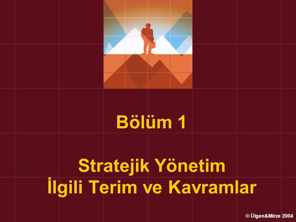 Bölüm 1 Stratejik Yönetim İlgili Terim ve Kavramlar