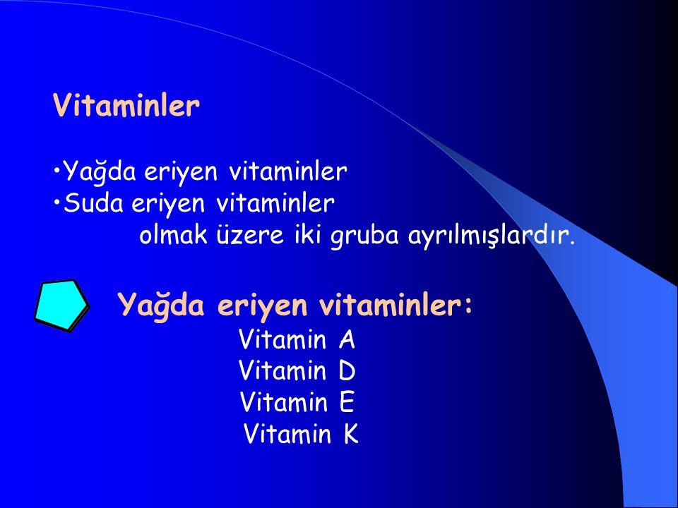 Yağda eriyen vitaminler: