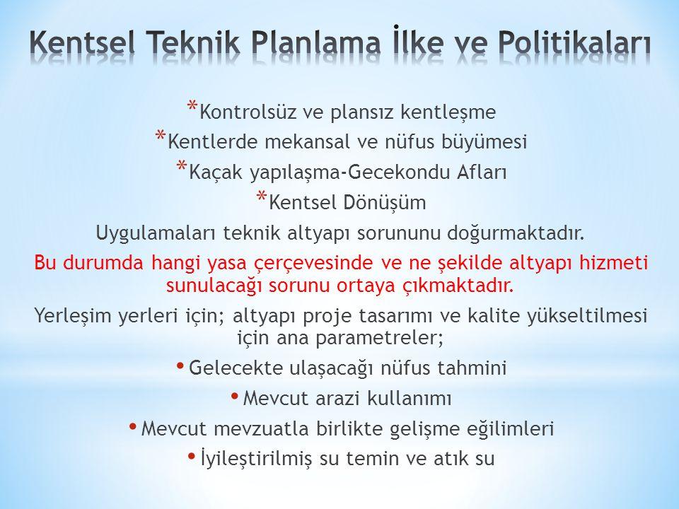 Kentsel Teknik Planlama İlke ve Politikaları