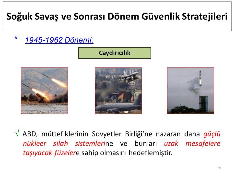 Soğuk Savaş ve Sonrası Dönem Güvenlik Stratejileri