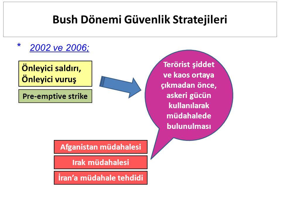 Bush Dönemi Güvenlik Stratejileri