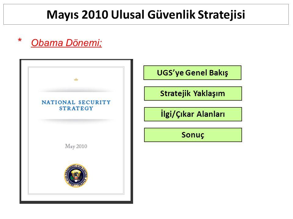 Mayıs 2010 Ulusal Güvenlik Stratejisi