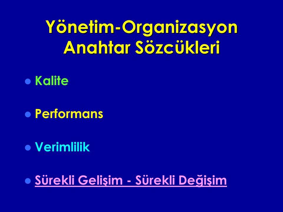 Yönetim-Organizasyon Anahtar Sözcükleri