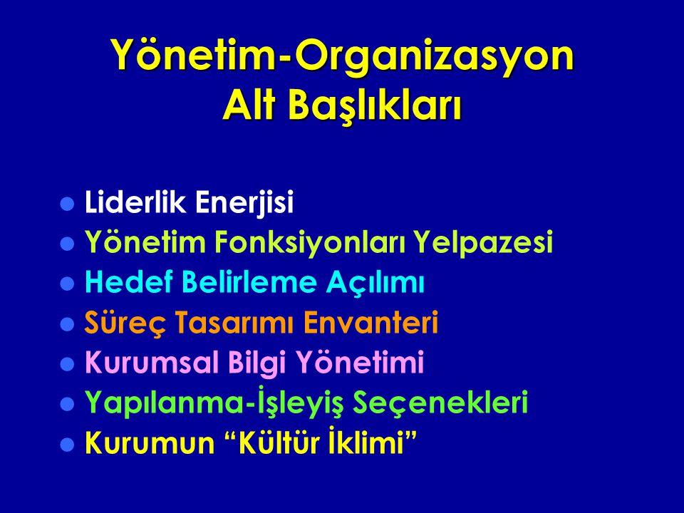 Yönetim-Organizasyon Alt Başlıkları